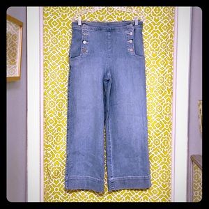 NWT LOFT wide leg, button fly retro style jeans